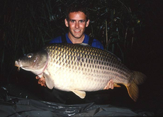A personal best 46lb+ common carp, taken during a week long visit to Etang Le Horre in France.
