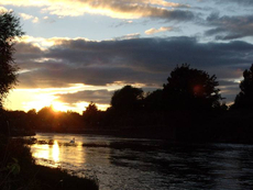 Sunset over the R Trent