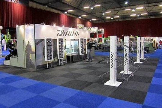 The Daiwa stand at the Zwolle carp show