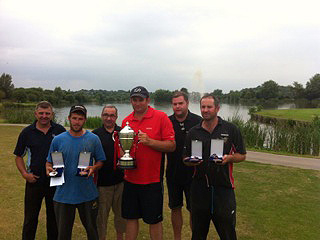 Steve Ringer with the Kamasan British Open trophy