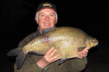 Neville with his third double at 11lb 2oz