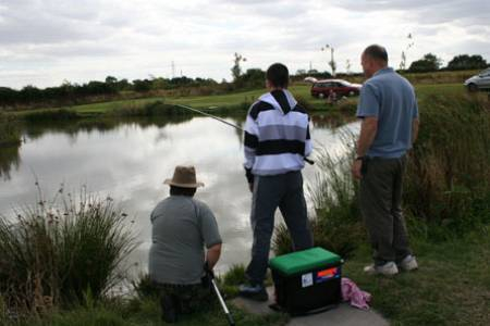 Concentration all round as another small carp is edged towards the waiting net.